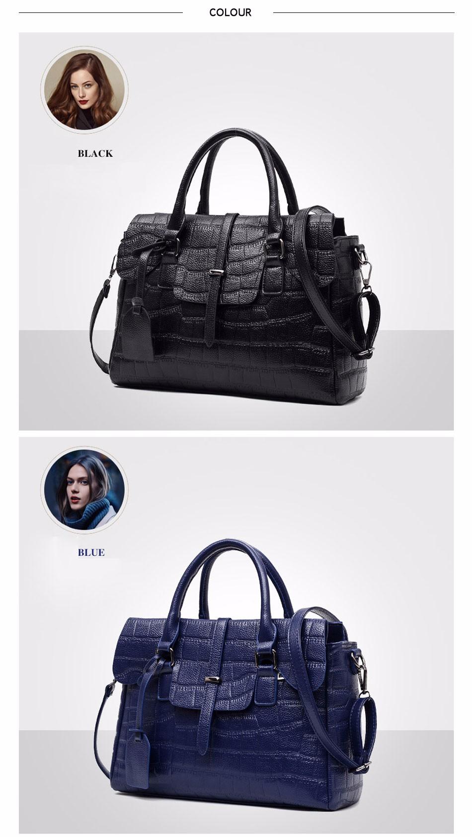 High Quality PU Leather Women's Handbags Shoulder Bag Ladies Hand Bags Stone Casual Women Bag Large Capacity Handbag 17 Sac 7