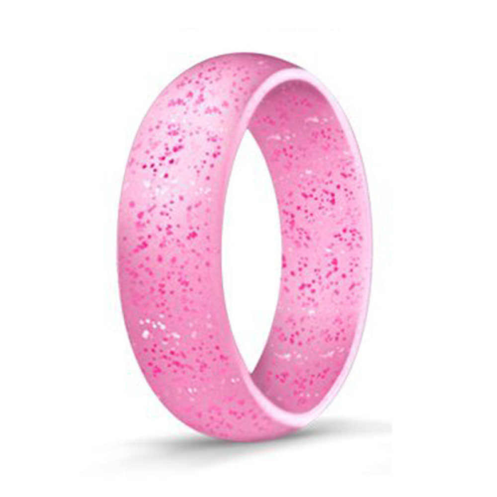 4-10 Size 5.7mm Food Grade FDA Silicone Finger Ring Hypoallergenic Crossfit Flexible Rubber Ring For Men Women Wedding Jewelry