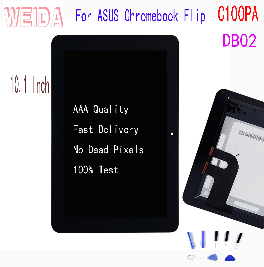 Weida 10 1 For Asus Chromebook Flip C100pa Lcd Display Touch Panel Screen Digitizer Assembly C100pa Db02 Lcd With Tools Tablet Lcds Panels Aliexpress