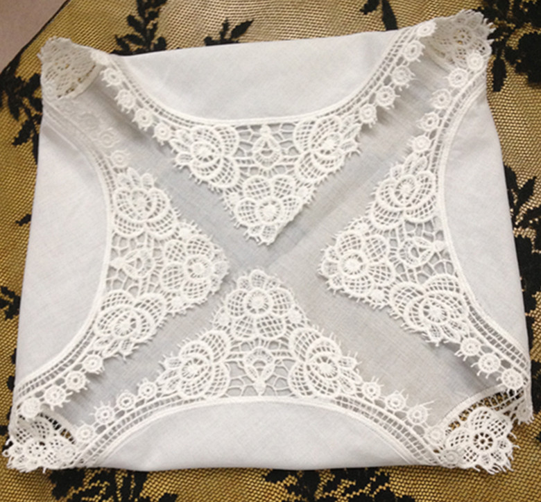 Set Of 12 Fashion Ladies Handkerchiefs 12-inch Cotton Wedding Handkerchief Sweet Heart Hanky Vintage Lace Hankie For Bridal Gift