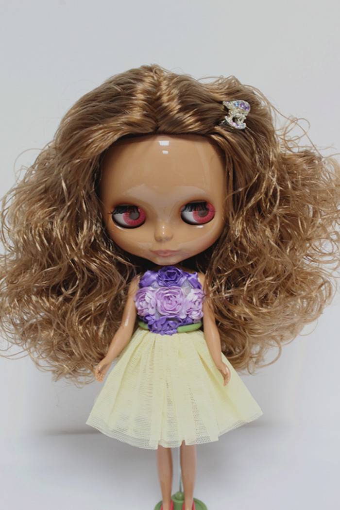 Free Shipping big discount RBL-115DIY Nude Blyth doll birthday gift for girl 4colour big eyes dolls with beautiful Hair cute toy