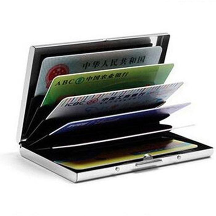 1 PC Aluminum Metal Credit Card Holder Slim Anti-Scan RFID Blocking Wallet Case Business Card Protection