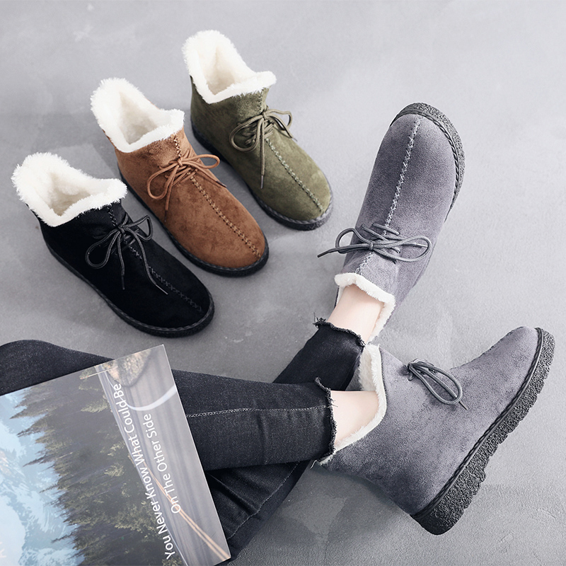 Women Boots Winter Super Warm Snow Boots Women Suede Ankle Boots For Female Winter Shoes Botas Mujer Plush Booties Woman 2018Women Boots Winter Super Warm Snow Boots Women Suede Ankle Boots For Female Winter Shoes Botas Mujer Plush Booties Woman 2018