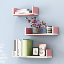купить Creative Bookshelf 3pcs Wall-mounted Storage Rack Bedroom Living Room Furniture Bookcase Potted Stand по цене 1770.92 рублей