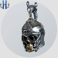 Ancient Chinese Generals Undead Pendant Pendant Necklace Jewelry 925 Sterling Silver Copper Blend Welding Men