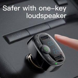 Image 2 - Chargeur de voiture double USB Baseus avec transmetteur FM Bluetooth mains libres modulateur FM chargeur de téléphone dans la voiture pour iPhone Xiaomi HUAWEI