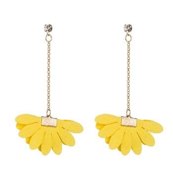 Bls-miracle Bohemian Leather Flower Earrings For Women 2018 Fashion Candy Colors Drop Dangle Earring Statement Handmade Jewelry Чокер