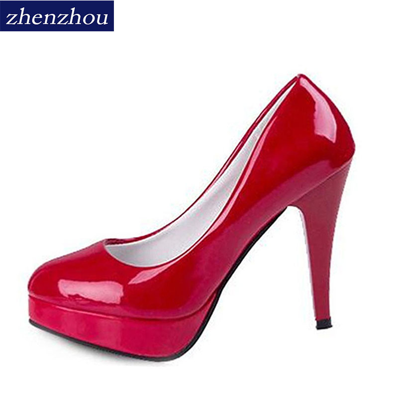 ZHENZHOU Pumps Women 's 2018 new sexy shallow mouth with fine pointed high heels waterproof shoes wedding shoes banquet shoe nordic modern 10 head pendant light creative steel spider lamps unfoldable living room dining room post modern toolery led lamp page 1