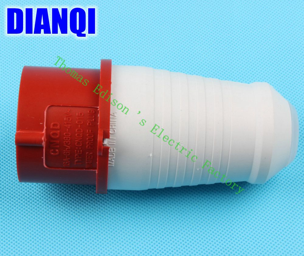 Industrial Plug Socket Coupler 015 CNQD-015 Red 16A 220V~415V 3P+E+N 5pin 60PCS/carton high quality ac 360 415v 16a ie 0140 4p e free hanging industrial plug red white