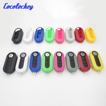 Cocolockey Replacement Case Shell Plastic KEY Cover Fob For Fiat 500 Panda Punto Bravo Car Flip Key Case 3Buttons