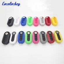 Cocolockey carcasa de recambio para llave de coche, funda de plástico para llave Fob para Fiat 500 Panda Punto Bravo, 3 botones