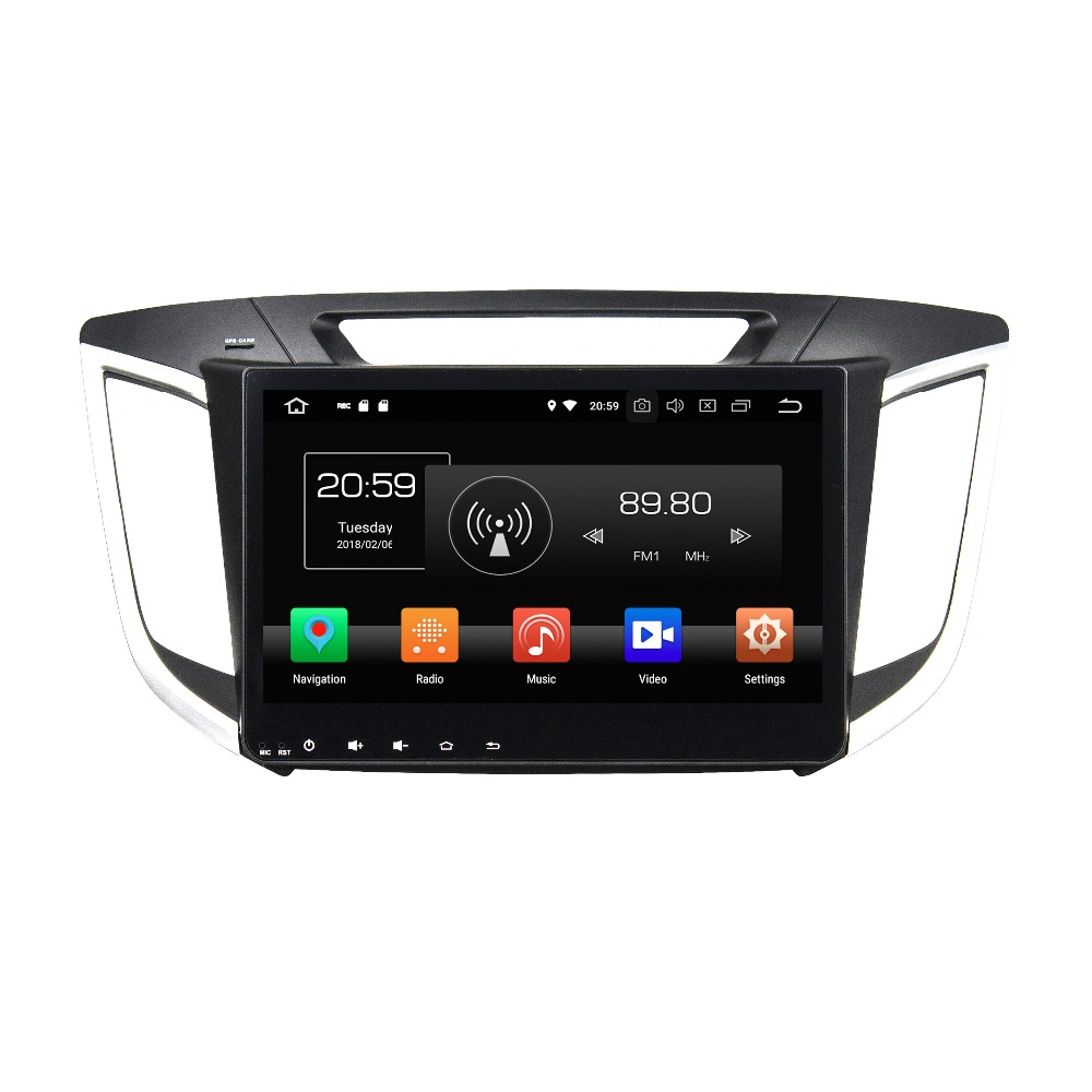 OTOJETA Android 8.0 car DVD octa Core 4GB RAM 32GB rom IPS screen multimedia player for hyundai IX25 creta 2014-2015 head units