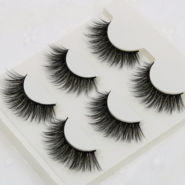 012 Smokey Makeup False Eyelashes 3D Stereo Multi-layer Cross Messy Natural Fake Eyelashes Soft Cotton Thread Thick Eyelashes 1