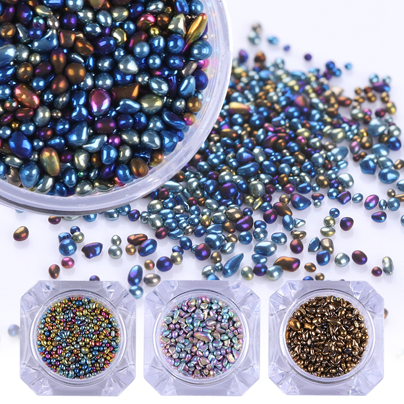 BORN PRETTY Chameleon Stone 3D Nail Rhinestone Small Irregular Beads 1 Box 4g Manicure Nail Art Decoration ободки pretty mania ободок