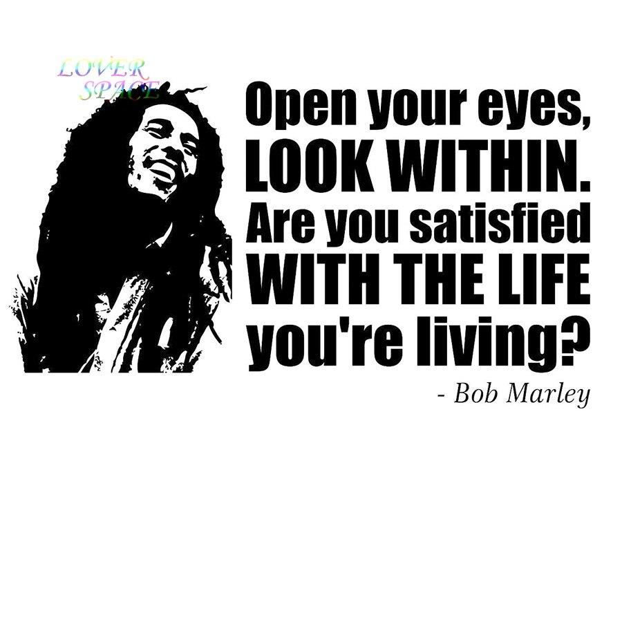 Bob Marley Gezicht Citaat Vinyl Sticker Decal Muur Art Phrase