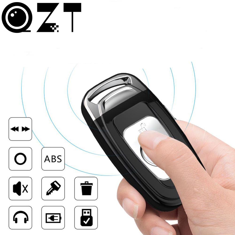 QZT Mini Voice Recorder Small Car Key Digital Audio Recorder Mini Dictaphone Micro MP3 Player USB Voice Recorders Flash Driver