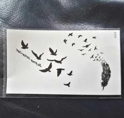 กันน้ำชั่วคราวTattooสติกเกอร์Mandala Henna Bird Feather Body Art Tattoo Flash Tattooรอยสักปลอมสำหรับสาวผู้หญิงผู้ชาย 4