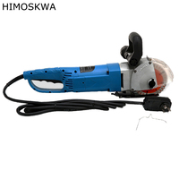 HIMOSKWA 4500W Multifunction Wall Stone Road Groove Cutting Chasing Machine with 5pcs saw Blades Hardware electric power tools