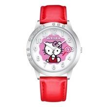 Cute Lovely Fashion Bracelet Hello Kitty Quartz Watch Children Kids Women Wrist Watch Wristwatches Clock Relojes Mujer relogio