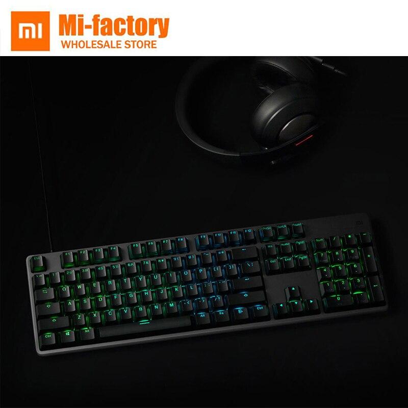 Nouveau Xiaomi Mija clavier de jeu RGB couleur lumière 104 touches vitesse rapide clavier de jeu Teclado USB alimenté clavier filaire