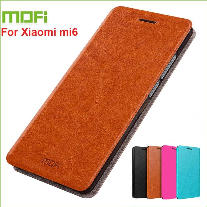 Für Xiaomi mi6 Stand Fall MOFI Fall Für Xiaomi mi 6 Hight Qualität Flip Leder Abdeckung Für Xiaomi mi6 Telefon Fall 5,15 zoll