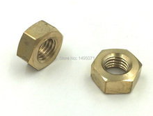 100pcs/Lot Metric DIN934 Brass Hex Nut M6 Hexagon Nut Screw Nut
