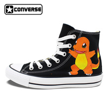 Custom Design Anime Shoes Pokemon Charmander Hand Painted Canvas Sneakers Brand Converse All Star Men Women Athletic Shoe