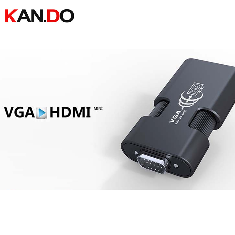 350MINI VGA + 3.5mm Audio To HDMI Converter For PC To HDTV Video Converter PC To HDTV Converter VGA+Audio To HDMI 1080P