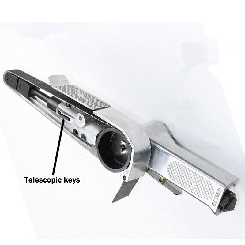 520*20mm Abrasive Belt Polisher Pneumatic Sand Belt Grinding Machine Pneumatic Grinder Air Belt Sander недорого