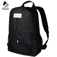 PEGASI Oxford Tool Fabric Backpack Multi Function Outdoor Backpack Electricians Tool Bag Black Durable