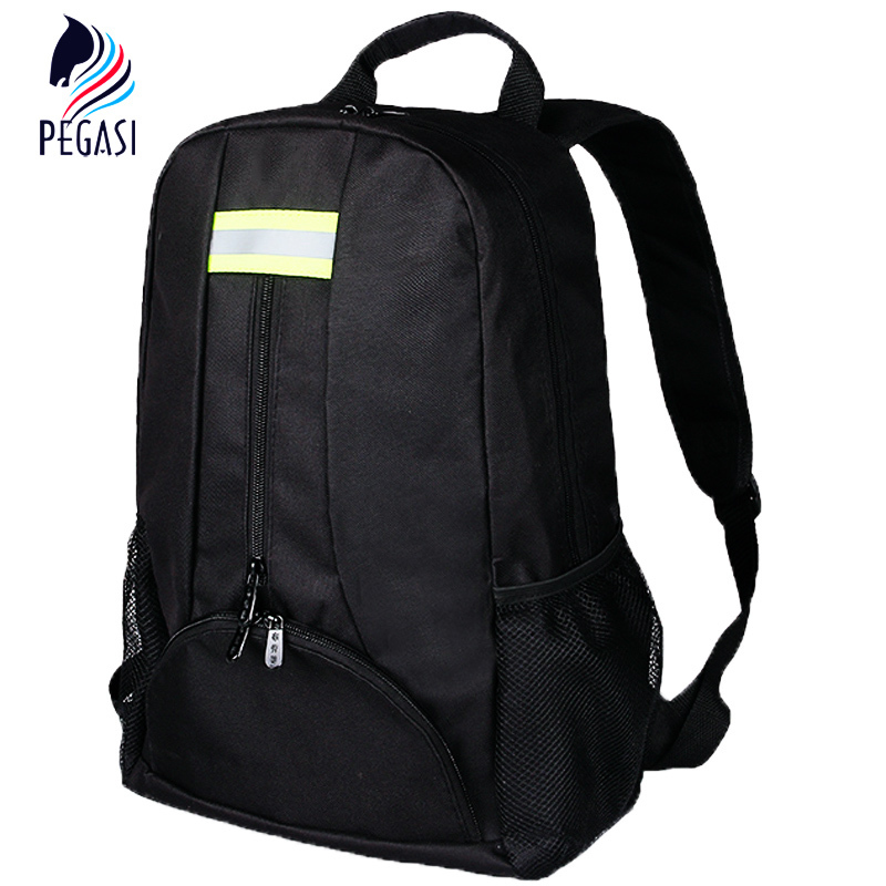 PEGASI Oxford Tool Fabric Backpack Multi-function Outdoor Backpack Electricians Tool Bag Black Durable