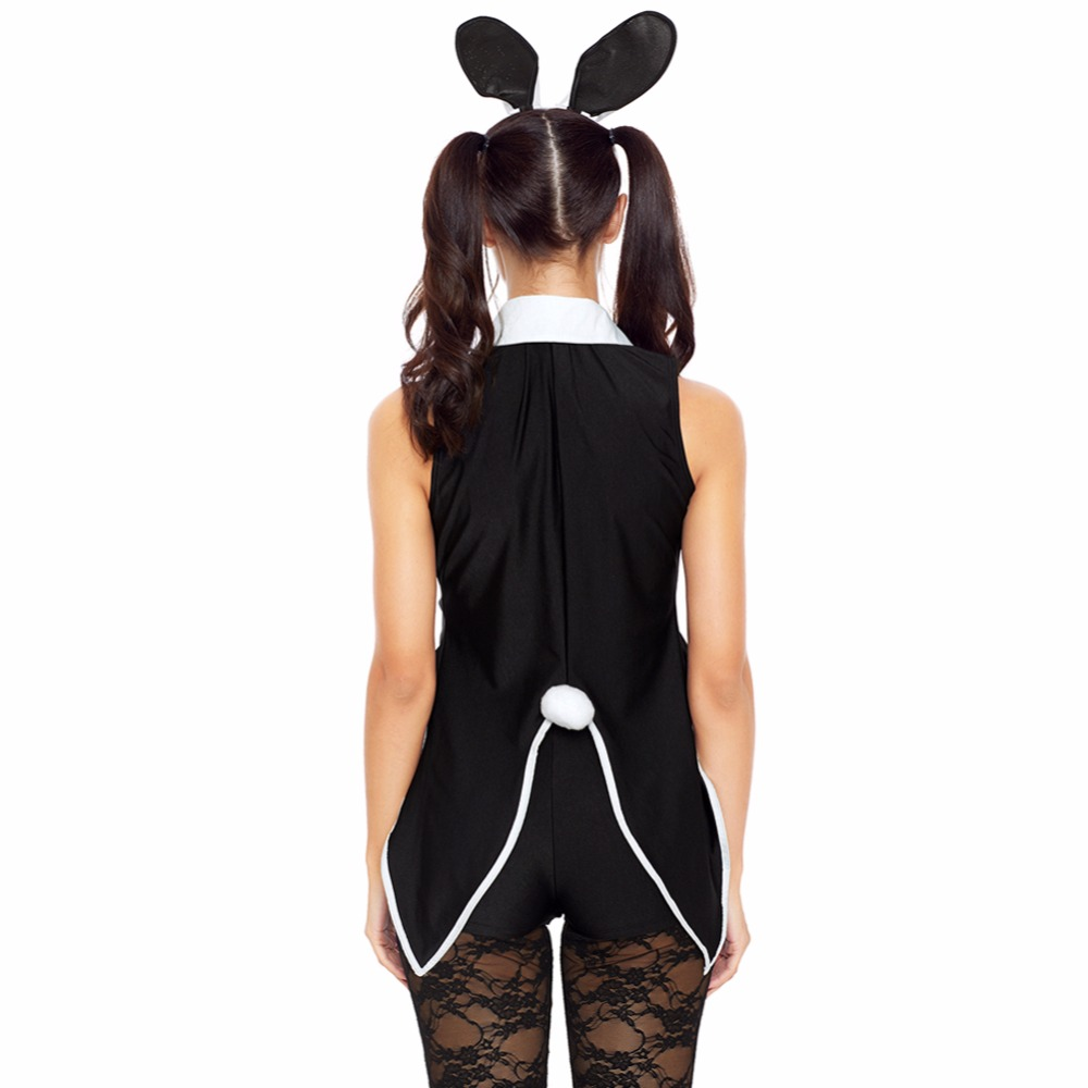 Sexy Women Cosplay Costume 5 Piece Tuxedo Bunny Tux And Tails Adult Party