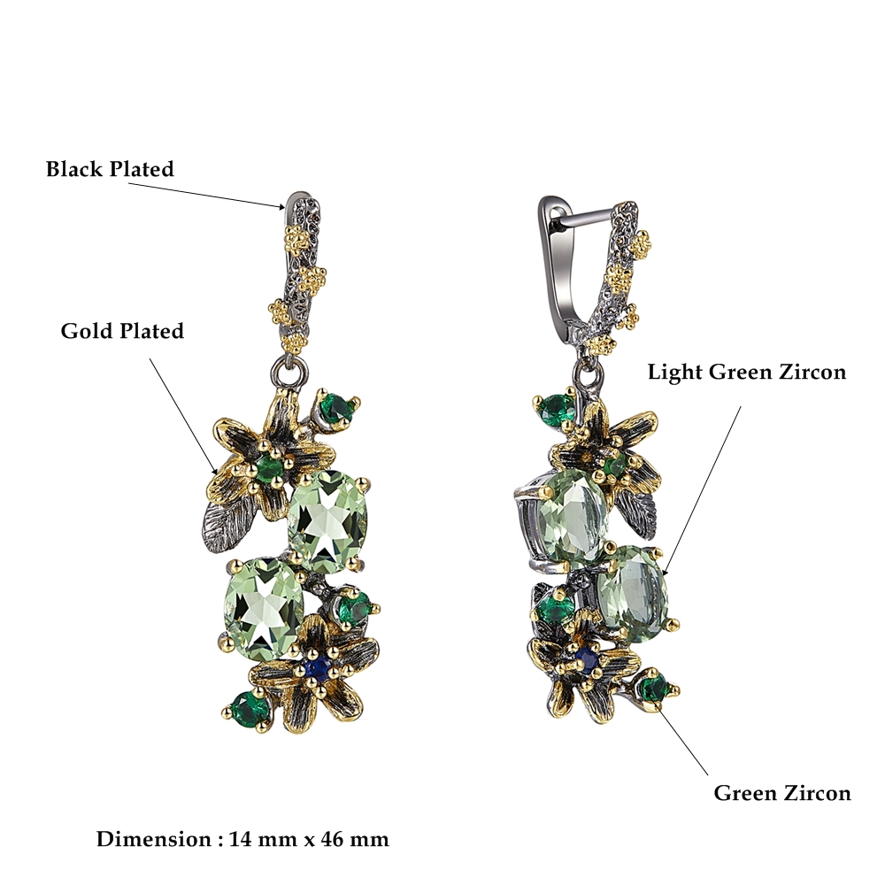 WE3874 dimension vintage luxury zirconia  drop earrings women (1)