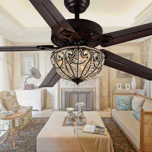 Led decorative ceiling fan lights 4810 48 inch pull chain indoor led decorative ceiling fan lights 4810 48 inch pull chain indoor ceiling fans lamp polished iron aloadofball Gallery