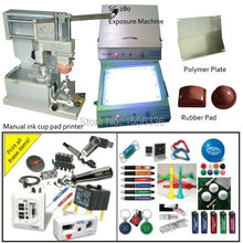 polymer plate exposure unit with manual ink cup pad printer