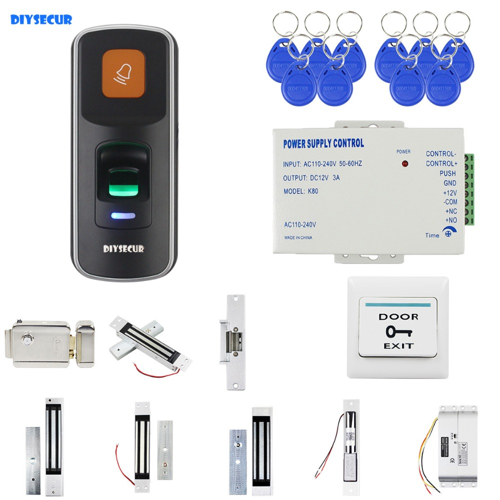 DIYSECUR Biometric Fingerprint RFID 125KHz Keypad Door Access Control System Security Door Lock KitDIYSECUR Biometric Fingerprint RFID 125KHz Keypad Door Access Control System Security Door Lock Kit