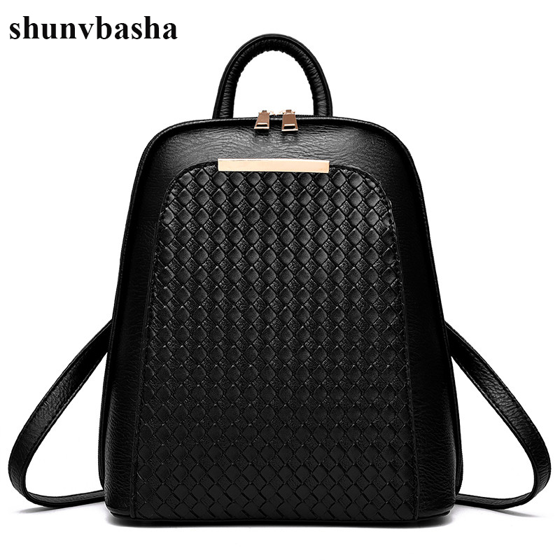 High Quality Leather Backpacks Women Brand School Bag For Teenage Girls Casual Style Fashion Design Mochila Ladies New Arrival