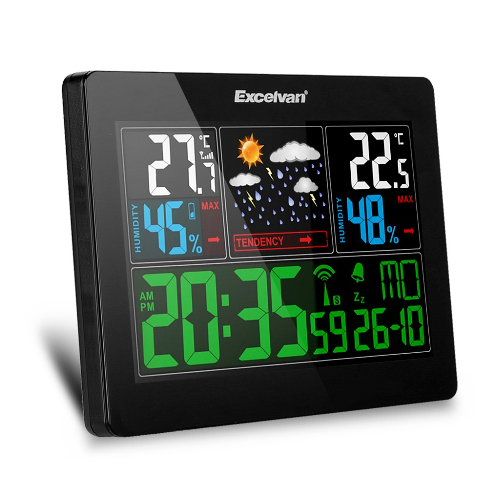 Creative Lcd Wireless Electronic Clock Thermometer Digital Desktop Table Clock Outdoor Indoor Temperature Measure Tools Profit Small Measurement & Analysis Instruments