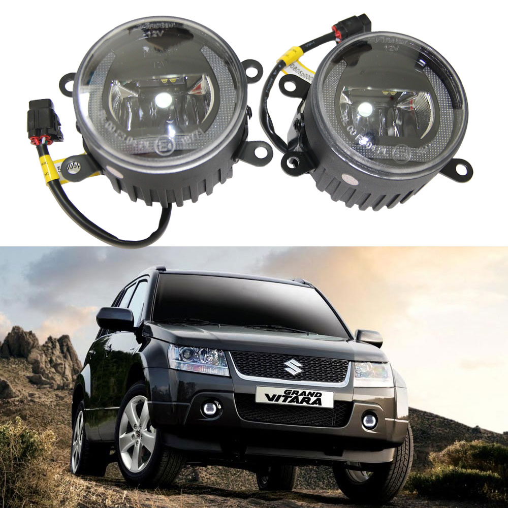 2x 3.5 Led DRL Fog & Daytime Running light For Suzuki Grand Vitara 2 ALTO 5 SWIFT 3 JIMNY FJ 2005-2015 Fog lamp 12V car-styling vitara light jimny fog light 2pcs led sx4 daytime light free ship swift fog lamp