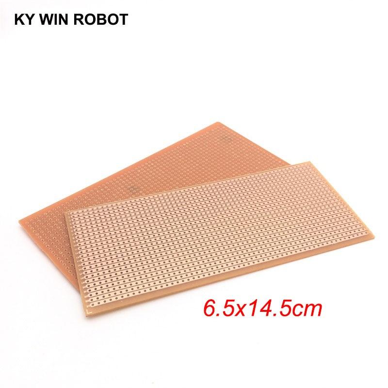 1pcs DIY 6.5x14.5 6.5*14.5CM Prototype Paper PCB Universal Experiment Matrix Circuit Board Single Row Continuous Hole 65x145mm