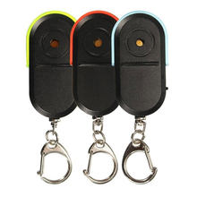 Venda quente Som de Apito LEVOU Luz Dispositivo de Alarme Anti-Lost Key Finder Localizador Keychain(China)