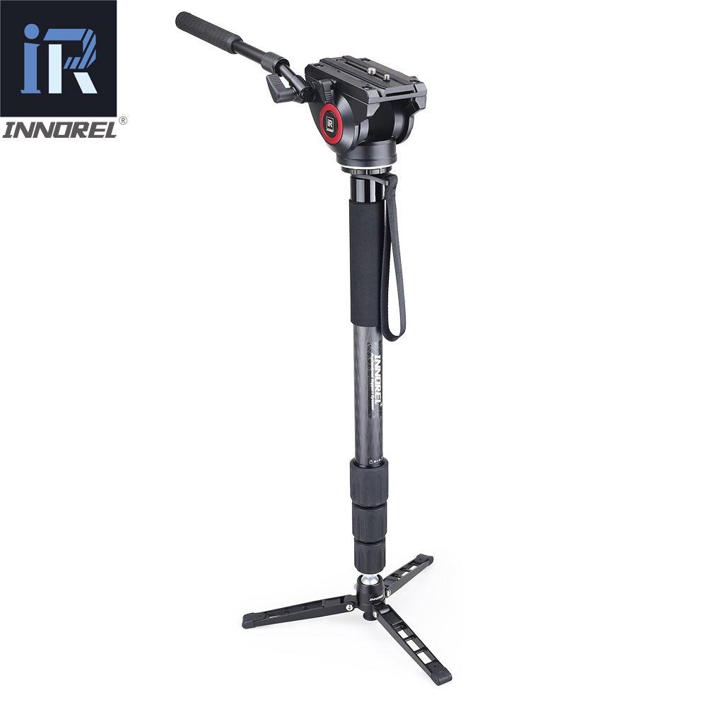 Image 4 - INNOREL Lightweight H80 Fluid Head Hydraulic Damping for DSLR Video Tripod Monopod Manfrotto 501PL Bird Watching Big Stable-in Tripod Heads from Consumer Electronics