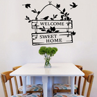 Welcome Sweet Home door sign decoration wall decals decorative vinyl wall stickers for living room Home decoration