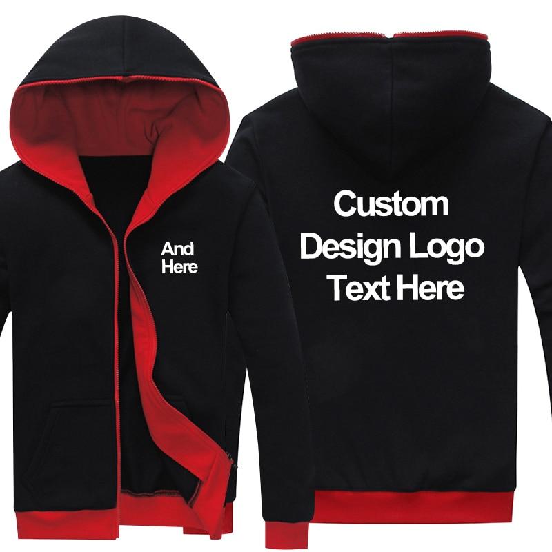 Dropshipping Logo Custom New Black-red Sweatshirt Hoodie Customized Made Printing Logo Graphic Hoodies Sweatshirts Coat Jacket