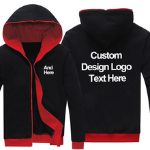 Luogen Dropshipping Black-red Customized Made Printing Logo Graphic Hoodies