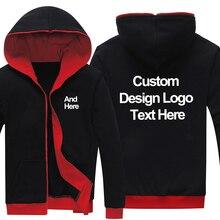 Dropshipping Logo Tùy Chỉnh Mới Đen đỏ Áo Hoodie Tùy Chỉnh Được Thực Hiện In Ấn Biểu Tượng Đồ Họa Hoodies Nỉ Coat Áo Khoác