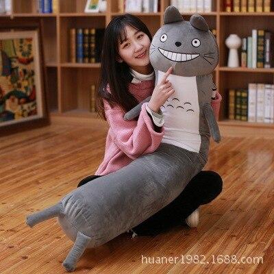 Mignon Shiba Inu chien Panda totoro petit ami Long oreiller en peluche jouet petit ami coussin dormir doux en peluche oreiller en peluche jouets