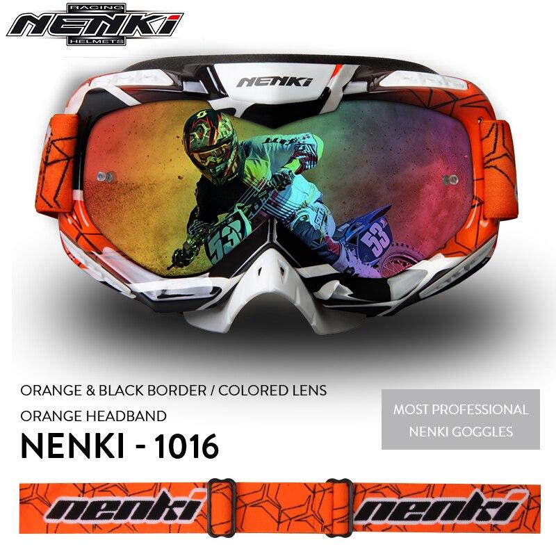 NENKI Motocross Glasses Moto Men Motorcycle Glasses Helmet Off-Road Motocross Goggles Dirt Bike ATV MX BMX DH MTB Eyewear