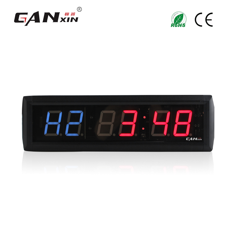 [GANXIN]1.8 inch shenzhen LED Interval Timer alarm clock Home Gym CrossFit Fitness clock