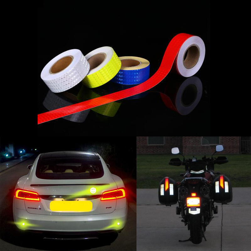 3M  Car Reflective Tape Stickers Car Styling For Automobiles Safe Material Car Truck Motorcycle Cycling Reflective Tape 2
